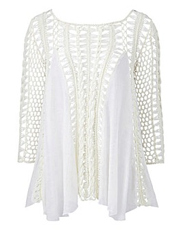 Joanna Hope Crochet Detail Blouse