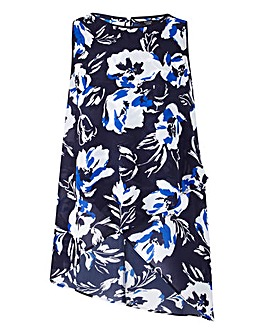 Joanna Hope Print Dipped Hem Tunic
