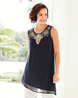 Joanna Hope Jewel Trim Tunic