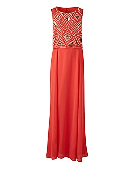 Joanna Hope Bead Detail Overlay Dress