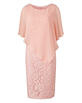 Joanna Hope Lace Overlay Dress