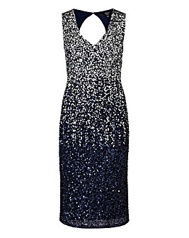 Joanna Hope Ombre Sequin Dress