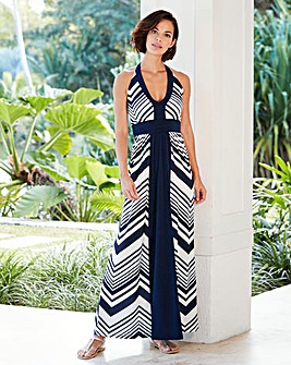 Joanna Hope Halter Neck Print Maxi Dress