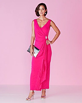 Joanna Hope Jewel Trim Maxi Dress