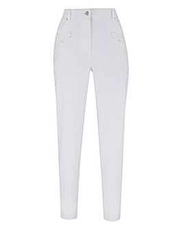 Joanna Hope Applique Detail Jeans