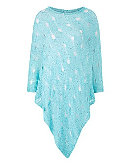 Joanna Hope Metallic Poncho