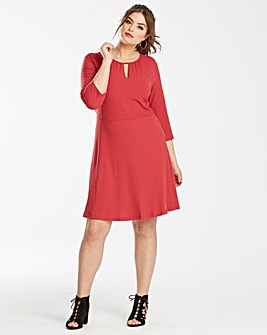 Junarose Red Skater Dress