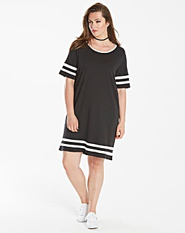 Junarose Casual Double Stripe Dress