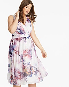 Little Mistress Printed Prom Dress