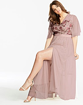 Little Mistress Flower Embellished Dress