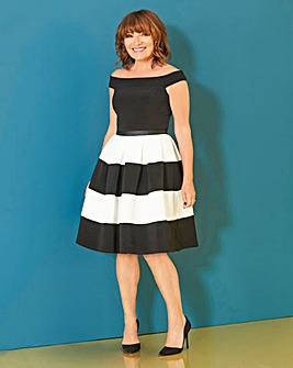 Lorraine Kelly Stripe Fit & Flare Dress
