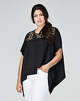 Grazia Dipped Side Top