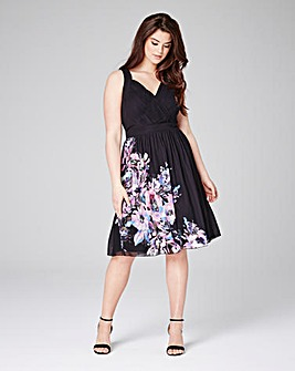 Little Mistress Printed Skater Dress
