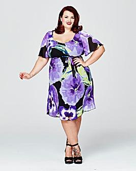 Scarlett & Jo Print Kimono Dress
