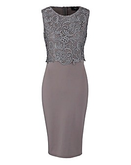 AX Paris Lace Scuba Bodycon Dress