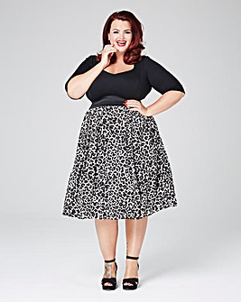Scarlett & Jo Leopard Twofor Dress