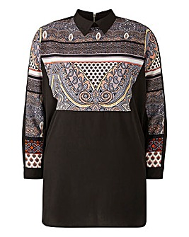 AX PARIS Paisley Shirt Dress