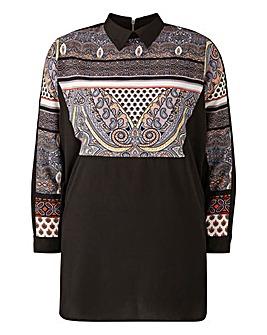 AX PARIS Paisley Shirt Dress