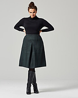 Traffic People Suedette Midi Skirt
