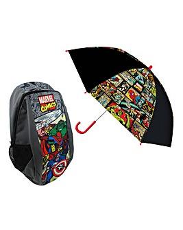 Marvel Comics Backpack and Umbrella