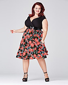 Scarlett & Jo Floral Dress with Belt