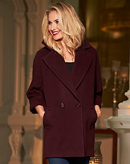 Helene Berman Longline Collar Coat