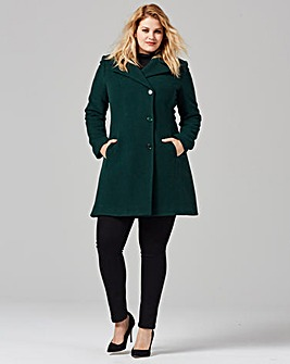 Helene Berman Asymetric Fit & Flare Coat
