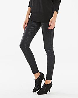Chloe Snake Shimmer Print Skinny Jeans