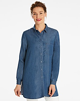 Longline Tencel Shirt
