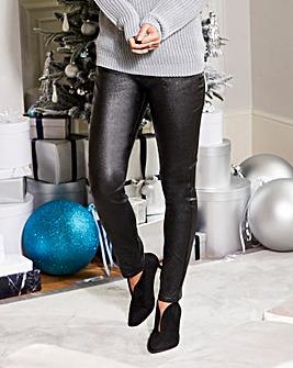 Saskia Shimmer Coated Super Slim Leg
