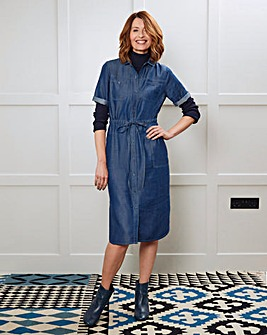 Tencel Utility Midi Shirt Dress