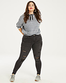Chloe Distressed Skinny Jeans Long
