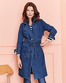 Premium Denim Trench Coat