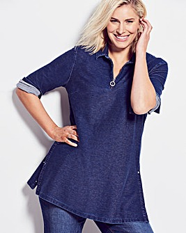 Premium Supersoft Denim Tunic