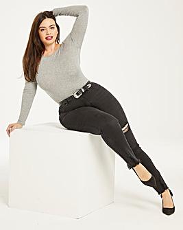 Luna Distressed Slim Leg Jeans