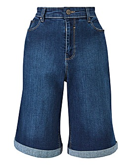 Everyday Knee Length Denim Shorts