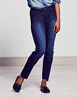 Sadie Slim Leg Stepped Hem Jeans