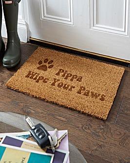 Personalised Paw Print Coir Doormat