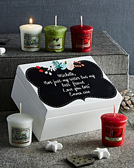 Personalised Wooden Box & Votive Collect