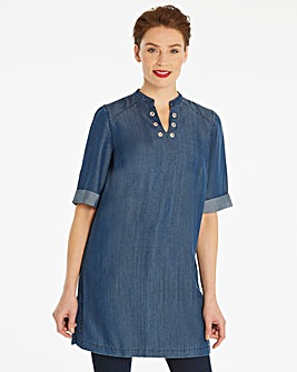 Soft Tencel Eyelet Tunic