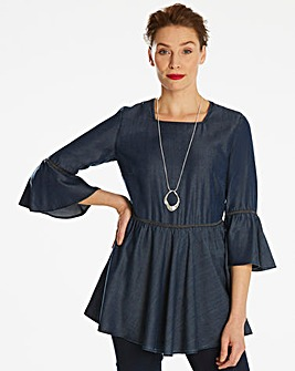 Ladder Lace Soft Lyocell Tunic
