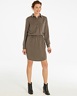 Soft Tencel Shirt Dress