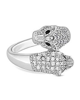 Jon Richard Crystal Panther Ring