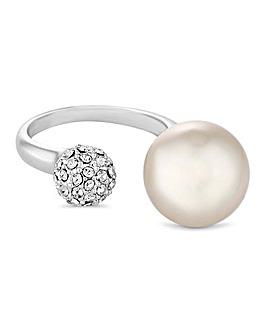 Jon Richard Pearl And Pave Ball Ring