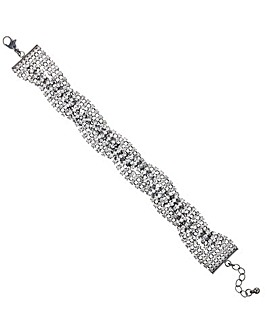 Mood Diamante Cross Over Bracelet