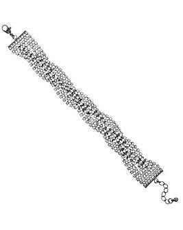 Mood Diamante Cross Over Bracelet