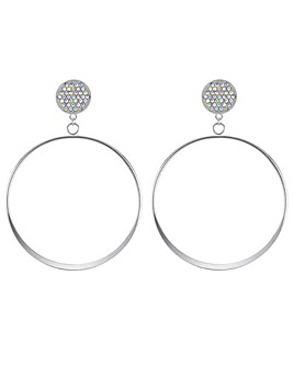 Mood Oversized Front Facing Hoop Earring