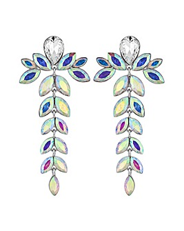 Mood Crystal Floral Drop Earring