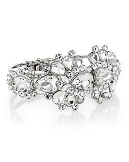 Mood Silver Crystal Cluster Bracelet