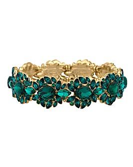 Mood Green Crystal Ornate Bracelet